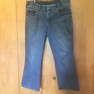 16w Lee comfort waist boot cut medium wash jeans